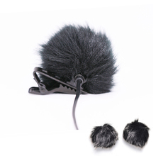 Black Fur Windscreen Windshield Wind Muff for Lapel Microphone Mic to