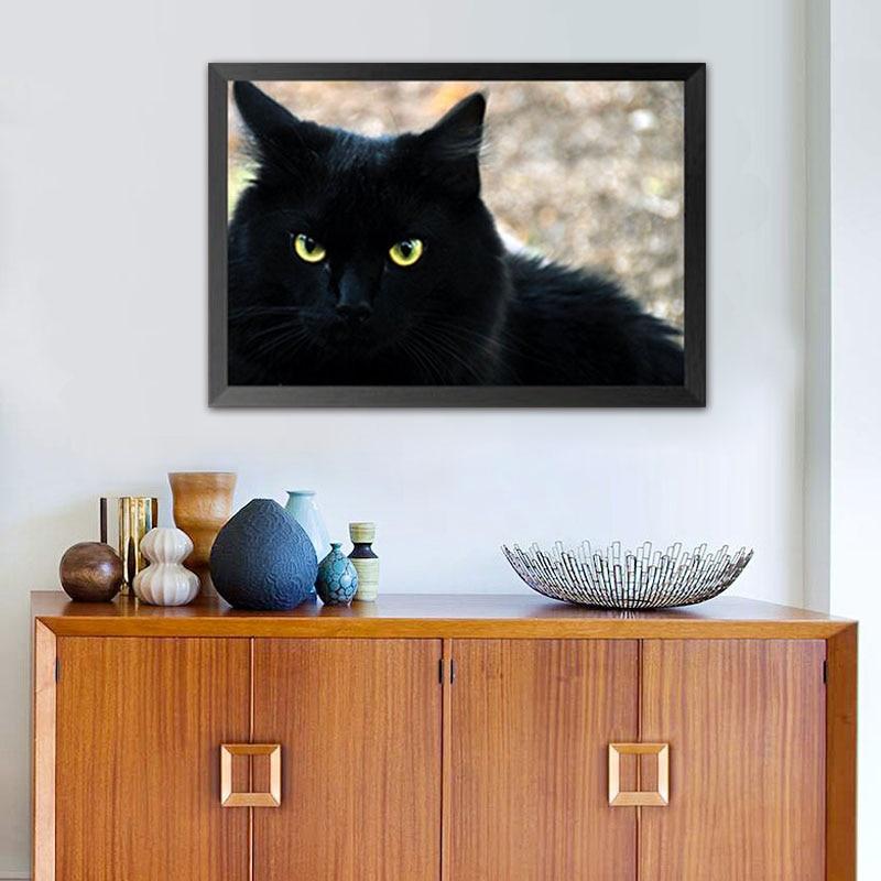 Diy-Black-Cat-Diamond-Painting-Embroidery-Animal-Diamond-Resin-Painting-Round-Drill-Picture-Decor