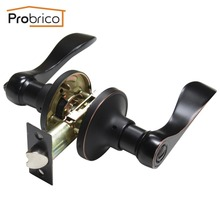 Probrico Wholesale 10 PCS Privacy Door Lock Stainless Steel Oil Rubbed Bronze DL12061ORBBK Door Handles Keyless Knob