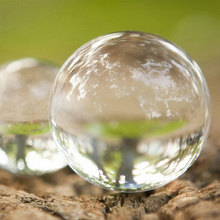Fashion Transparent Solid Glass Crystal Ball Healing Ball Gifts Luck Decoration