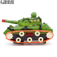 Electric Universal Wheel Military tank Toy Diecasts Military Vehicle Model for Boy Toys LED Flashing Lights Sounds Toys for Gift(China)
