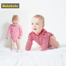 balabala 2 PCS/set Baby Bodysuits Infant cotton Long Sleeve clothing Baby boy girls Clothing Christmas comfortable Clothes sets(China)