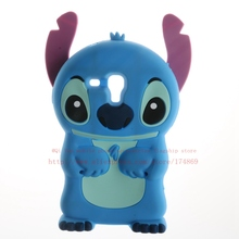 3D Cartoon Stitch Case For Samsung galaxy Trend Duos GT - S7562 S7562 S7560 7562 Cute Soft Silicone Phone Cover(China)