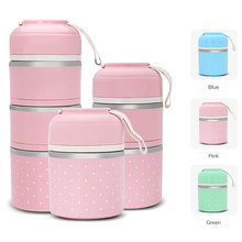 Portable Cute Bento Thermal Lunch Leak-proof Stainless Steel Food Container Tableware Kids Food Storage Picnic Container Set