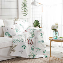 Papa&Mima Modern style Cushion Blanket Tree branches Print Cushion Pillow Sofa Bedding Throws(China)