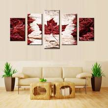 Canvas Painting Wall Art Large Flag Of Canada Constructed Of Maple Leaves White Birch Bark Country Symbol Print For Wall Decor