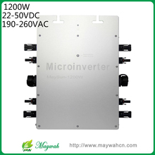 DECEN@MaySun 1200W IP65 Waterproof MPPT Solar Power Micro Inverter, 22-50VDC, 180-260VAC Micro Grid Tie Inverter(China)