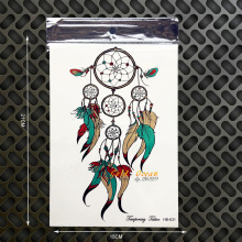 New Dreamcatcher Designs Waterproof Fake Tattoo Sexy Body Art Tattoo Arm Home Decor 21x15CM Flash Tatoos Wall Sticker Car Decal(China)