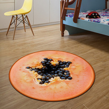 Papaya Round Mat 80/100/120/160CM alfombras dormitorio Carpet Living Room Deurmat Dier rugs Swivel chair Mats tapis chambre