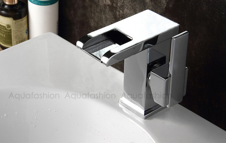 LED Faucet Polished Chrome Single Lever Handle Bathroom Basin Mixer Tap Waterfall LED Faucet for Bathroom Basin (8)