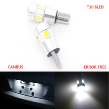 10X Car T10 6 LED 5630 W5W Clearance Parking Dome Festoon Wedge Light Car 5W5 Switchback LED C5W C10W Reading Light Xenon Auto