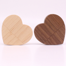 Gift Wooden customized wood heart shaped USB flash drive USB2.0 flash drive 4G 8GB 16GB 32GB 64GB pen drive Memory Stick