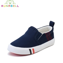 2017 Children Autumn Canvas Shoes Girls Solid Fashion Flats Sneakers Boys Sports Breathable Canvas Shoes Kids Sneakers C445(China)