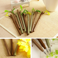 1PC 0.5mm Hot Sale Tree Branch Special Diamond Head Gel Pen Dust Plug Pen Cute Stationery Creative Gift(China)