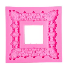 Photo frame 3D Craft Relief Chocolate confectionery Silicone Mold Fondant Cake Kitchen Decorating DIY Tools FT-1077(China)