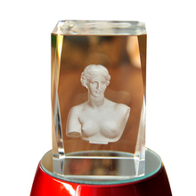 Venus Figure Paperweight 3D Laser Etched Crystal crafts Display Light Base Decor home decor holiday decoration&gift Mascot