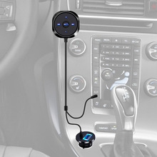 Wireless Bluetooth Car Kit Music Receiver 3.5mm Adapter Handsfree LED AUX Speaker with USB Car Charger For iphone 6 7 Android