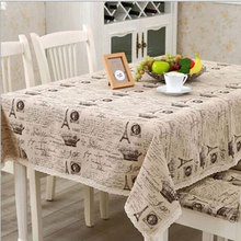 europe linen cotton table cloth small crown letter printed lace edge tablecloth wedding party supply toalha de mesa retangular(China)