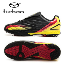 TIEBAO Professional Chuteira Futebol Black Soccer Shoes Outdoor Football Boots Men's Sneakers Cleats TF Turf Soles - tiebao Official Store store
