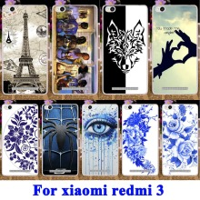 Custom Soft TPU & Hard PC Cell  Phone Cases for Xiaomi Redmi 3 Housing Covers 5.0 Redmi3 Hongmi3 Hongmi 3 Shell Mobile Phone Bag