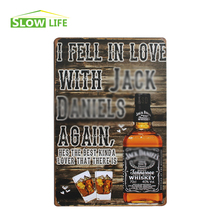 Love With Jack Whisky Metal Tin Sign Bar/Pub/Hotel Wall Decor Metal Sign Vintage Home Decor Metal Plaque Retro Painting Plate