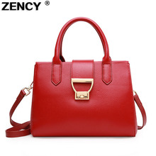 ZENCY Genuine Leather Women Tote Bags Ladies Real Leather Handbags Long Strap Messenger Bag Hobo Satchel Leisure Purse Fashion(Hong Kong)