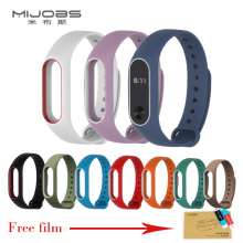 Xiaomi Mi Band 2 Strap For Mi Band 2 Silicone Strap Bracelet Replacement Wristband Smart Band Accessories Colorful wrist Strap(China)
