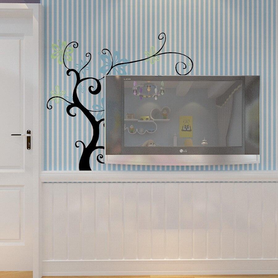 Modern Blue Striped Living Room Wallpaper 3d Vertical Stripes Papel De Parede Roll Vinyl Sticker Roll 3d Wallpaper Walls<br>