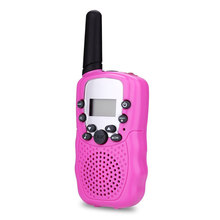 2 Pcs/Set Children Toys 22 Channel Walkie Talkies Two Way Radio UHF Long Range Handheld Transceiver Kids Gift FJ88