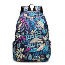 PONGWEE 2017 School Bags Bling Backpack New Beautiful Girls Backpack Leaves Printing Fresh Style Backpack For Teenagers