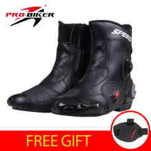 PRO-BIKER SPEED BIKERS Motorcycle Racing Boots Motorcycle Riding Boots Men Motocross Off-Road Motorbike Boots Moto Shoes A004(China)