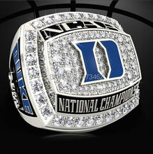 Free shipping 2015 Duke Blue Devils national championship ring, 2015 popular fashion sports fans wholesale Wedding Ring solid(China)