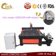 Jinan cheap New and surprise 1.5kw 3kw cnc router spindle/4th axis adding a rotary/1530 dust collector for cnc router(China)