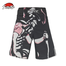 MMA Boxing breathable loose breathable cotton boxer shorts match fitness training muay thai boxing mma fight shorts kickboxing