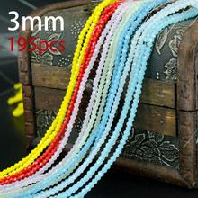 Buy Wholesale AAA Crystal Glass Beads 195pcs/lot 3mm Bicone Beads 5328 Charm Loose Spacer Bead DIY Jewelry Making for $1.41 in AliExpress store