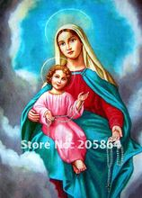 FREE SHIPPING Classical religion wall hanging tapestries,decoration art Fabric picture, The Virgin Mary and The sun,Wall textile