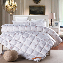 Fashion style duck/goose down duvet comforter quilting winter blankets down-proof cotton linens Single/Queen/King Size quilt(China)