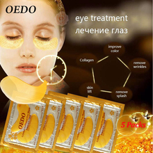 10pcs=5pack Anti-Aging Gold Crystal Collagen Eye Mask Skin Care Eye Patches Crystal Beauty Anti Dark Circle Anti-Puffiness Cream(China)