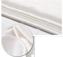 limit the quantity of sell 16m/m silk charmeuse satin fabric nature white(China)