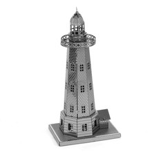 The Light House of Alexandria Fun 3d Metal Diy Steel Scale Miniature Model Creative Puzzle Toys Kits Kids Adults Hobby Building