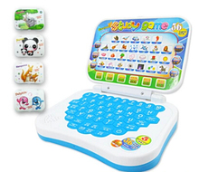 Mini E-school PC Learning Machine Computer Laptop Baby Children Educational Game Toy Electronic Notebook Kids Study Music Phone(China)