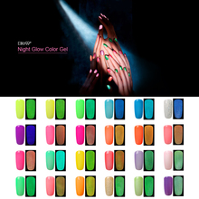 Elite99 10ml All 24 Pieces Fluorescent Luminous Colors Nail Polish UV Gel Night Glow In Dark Lacquer Varnishes Soak off Nail Gel