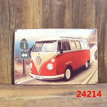 VW bus Vintage Metal signs wall decor House Bar Metal Paintings art B-131 Mix order 20*30 CM