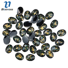 Blueness 10Pcs/lot 3D Nails Art Decorations Nail Gel Studs Round Black Resin Drill Acrylic DIY Accessories For Manicure PJ186