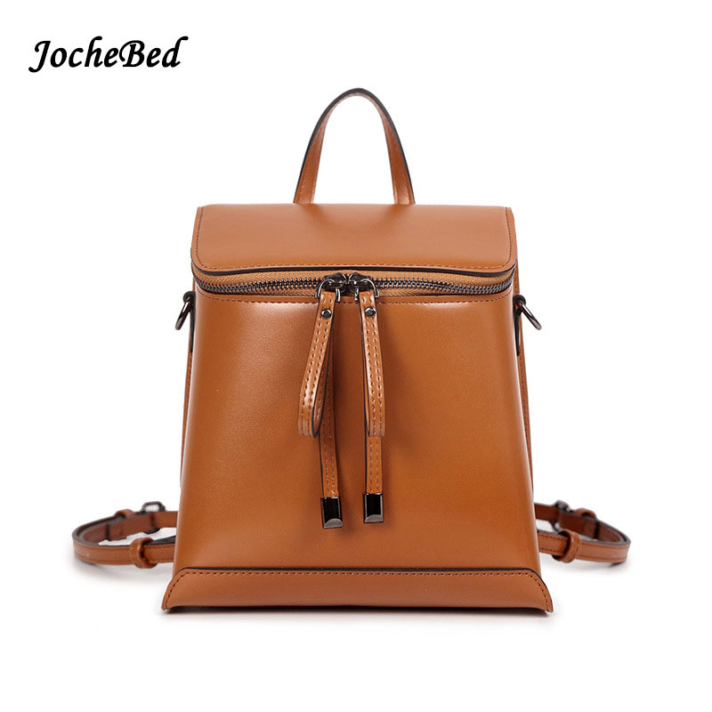Fashion Solid Vintage High Quality Women Backpacks Leather School Bags Satchel Brand Design Female Backpack 2017 Rucksack Youth<br>
