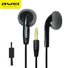 Awei Sport Wired Stereo Headphone High Quality Earphone For Your Ear Phone Buds iPhone Samsung Player Headset Earbuds Earpieces