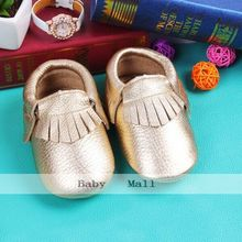 24 color Genuine Leather soft baby boy shoes First Walkers Toddler baby moccasins Anti-slip Infant fringe Shoes free shipping(Chile)