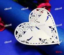 heart love bird Paper Napkin Rings Wrap clip towel table Decoration For Wedding Party Event Decors restaurant hotel