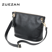 HOT Women Genuine leather (TOP layer) real cowhide handbag Retro Tassel chains shoulder/crossbody Messenger bags Fashion B140