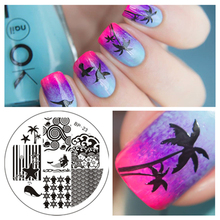 1 Pc Ocean Sea Tree Wave Theme Nail Art Stamp Stamping Template Image Plate BORN PRETTY #23